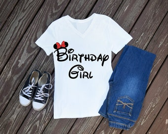 Birthday Girl Women's T-Shirt, Disney Shirts