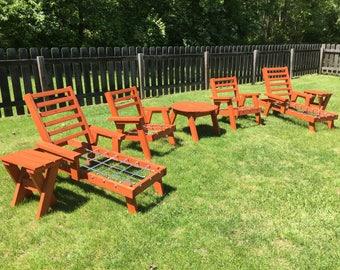 vintage redwood style patio furniture