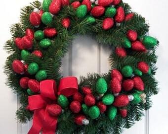 Holiday Lights Wreath
