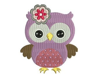 Cute Owl Embroidery Design, Flower Embroidery Design, Baby Embroidery Design, Girl embroidery design, Boy embroidery design
