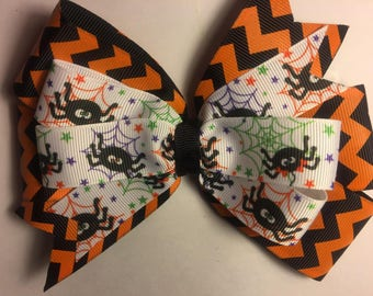 Halloween Spider & Web Girl's Hairbow