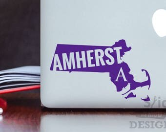 Amherst College Custom & Permanent State Vinyl Decal