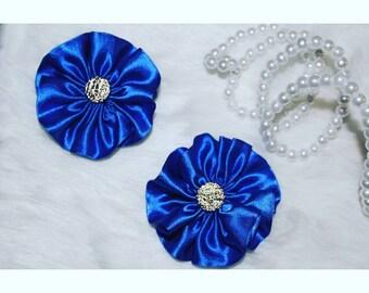 Royal Blue Satin Flower