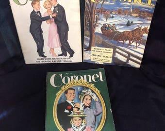 Coronet Magazine set of 3