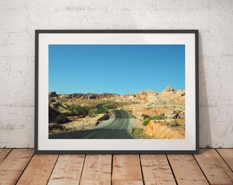 Desert Roads, Art Prints, Nature Photography, Travel