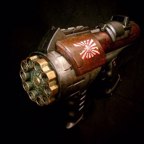 Nerf hyperfire , custom paintjob for cosplay or display by Steadymonkey steampunk buy now online