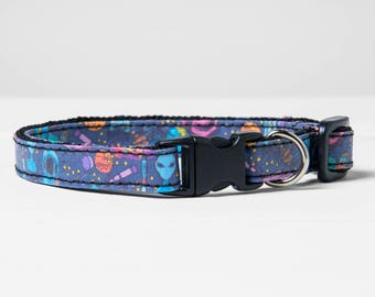 "Cat Collar Breakaway Buckle ""Alien Space Galaxy"" Safety Buckle Cat Collar"