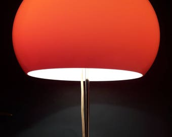 Vintage Mid Century Modern Floor Lamp / Orange Adjustable Lamp / Design Harvey Guzzini / Italy 70s