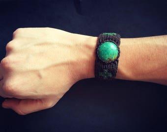 Cruzar Bracelet - Vintage Chrysocolla Bracelet