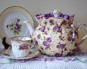 STANDARD SIZED Tea Cozy fits a 6 cup teapot or one that holds 36 Oz's