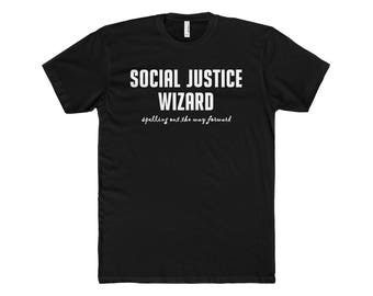 Social Justice Wizard Unisex ShortSleeve TShirt SJW dungeons and dragons dnd rpgs roleplaying games