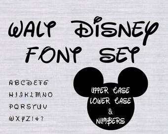 Walt Disney Font Set, Disney font svg, Disney font for silhouette, Disney font cricut, disney svg files for silhouette, cutting file