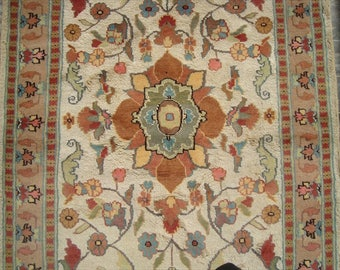wool area rug floral rug silk rug hand knotted rug rectangle rug