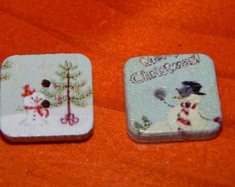 5 Christmas buttons