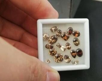 Natural zircon gemstone parcel 18pieces