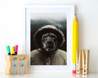 Lion Print, Prints for nursery, Zoo Nursery, Printable Animal Art, Safari Animal Prints, Wilderness Explorer, Nursery Poster, Zoo animal