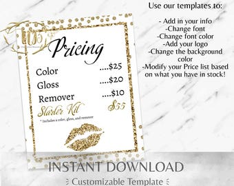 Gold Glitter LIpSense Price List