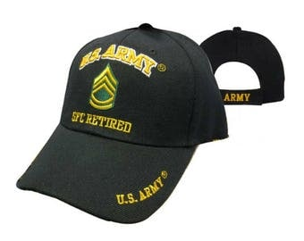 US ARMY SFC Retired Cap