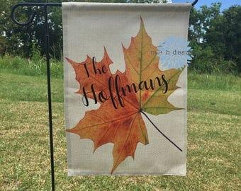 Fall Garden Flag, Autumn Garden Flag, Fall Foiliage Flag, Personalized Flag, Custom Flag, Personalized Fall Flag, Personalized Autumn Flag