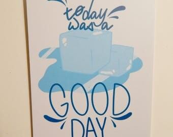 Ice Cube- Today Was a Good Day Postcard