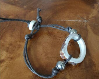 Whitetail deer antler bracelet