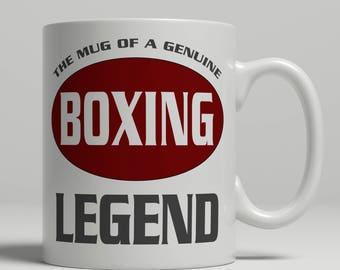 Boxing mug, boxer gift, boxing gift, boxing coach mug, boxing gift idea, boxing coffee mug, boxer coffee mug, boxing legend, EB boxing