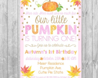 Pumpkin/ Autumn Invite - Digital copy