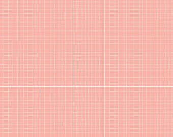 Pink Fabric - Coral Fabric - Pink Geometric Fabric - Cotton Woven - Pink Quilting Fabric - Pink Quilting Cotton - Pink Quilting Blender