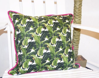 Martinique Banana Leaf Indoor/Outdoor Pillow Covers