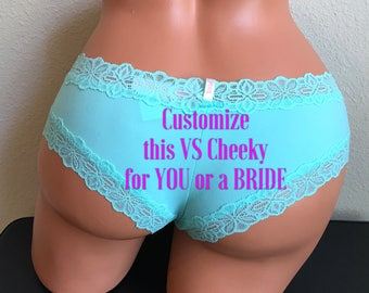 CUSTOMIZE these panties, Bride Gift, Military Wife, Bachelorette Gift Panties, Bridal Shower Gift, Wedding Panties, Personalized Panties