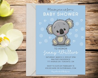 Baby shower invite with Setup, baby shower, baby boy invitation, shower invitation, printable invitation, invitation template