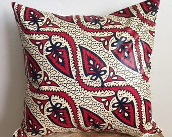 Vintage African Wax Print Pillow Cover