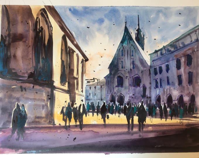 Kraków in watercolours