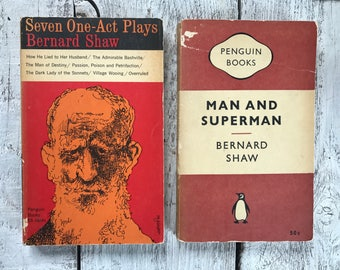 Vintage book Shaw Bernard Seven One-Act Plays and Man and Superman paperback
