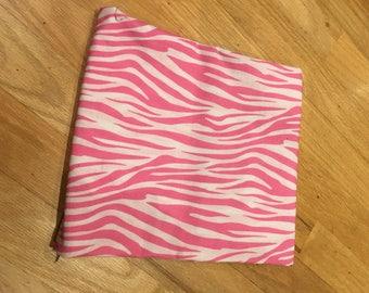 3' pink zebra print nap mat