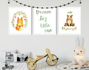 DIGITAL DOWNLOAD baby room woodland prints