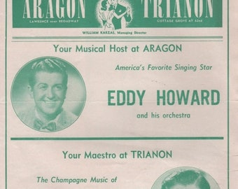 DANCE TOPICS 1950 Aragon -Eddy Howard & Trianon- Lawrence Welk Chicago, Illinois