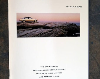 Mercedes-Benz S-Class sales brochure 1991