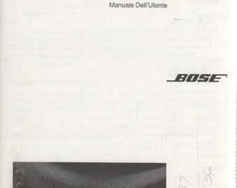 BOSE Model 100 Speakers 1994 Owner's Guide Manual