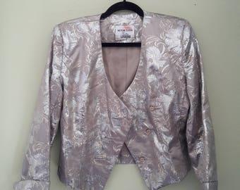 Vintage Victor Costa  Metallic Blazer