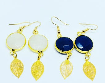 Bouces dangle earrings with stones