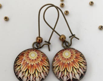 Illustration petals earrings