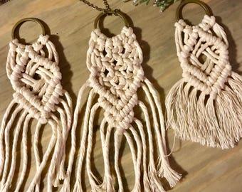 Macrame Necklace/ Necklace