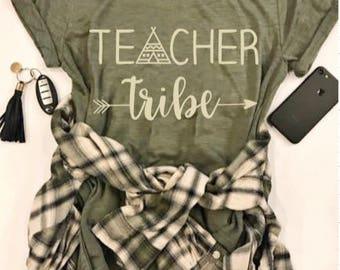 Teacher Tribe Shirt / Teacher Shirt / End of Year Gift / Teacher Gift / School Gift / New Teacher Gift / Graduation Gift