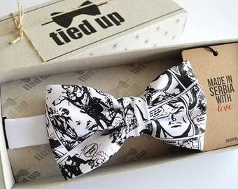 White newspaper handmade Bow tie for men, Newspaper Bow tie, Bow tie for women, Newspaper Bow tie for kids.