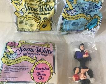 1992 Snow White Disney McDonalds Happy Meal toys.