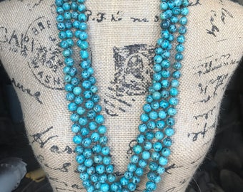 Large Bead Turquoise Necklace