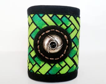 fabric Cuff Bracelet look like a jungle