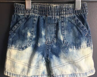 12 month denim shorts dipped dyed