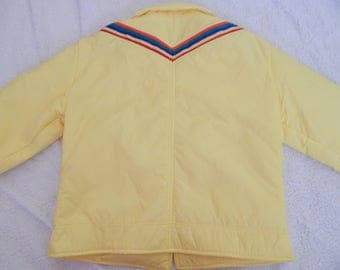 1970s Yellow Robbe Ski Jacket - Rainbow Stripes